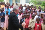 Bishop Christopher address the primary school pupils