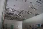 Peeling ceilings are not the best thing for a hospital