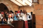 The Youth Choir lead the worship at St John's Cathedral Bulawayo