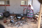 The day that we visited the school had a power cut and so the Sisters were cooking all the meals in the traditional way