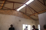 A typical roof before it is finished.  I can't help but imagine Bishop Ishameal and Dean Austin up on the top of it!
